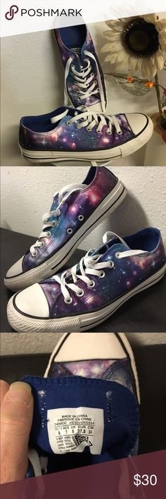 ⭐️ Converse ✨☀️  Converse celestial galaxy pattern, size 7 worn only twice, in excellent condition!! Converse Shoes Sneakers