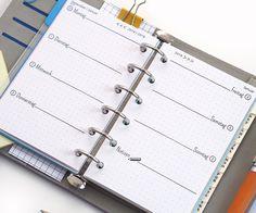 Datierte Kalendereinlagen für den Filofax, Design MATI mit gepunktetem Hintergrund
