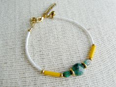 Bumble Beaded Dainty Layering Bracelet by EtymologyJewelry on Etsy, $28.00