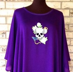 Glam Goth Embroidered Tunic by TexasStitchWitches on Etsy https://www.etsy.com/listing/173524741/glam-goth-embroidered-tunic