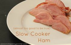 Slow Cooker Ham - just 3 ingredients and perfect for Easter Sunday!