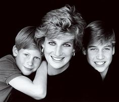 Prince Harry, Princess Diana, and Prince William