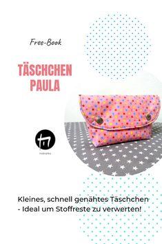 Täschchen nähen, Schminktäschchen, 1-Hilfe Täschchen, Schnittmuster Täschchen, DIY Freebies, Design, Fabric Scraps, Tutorials