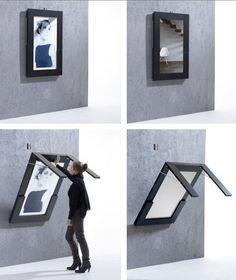 mesa desplegable con foto o espejo