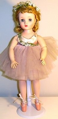 """BEAUTIFUL VINTAGE MADAME ALEXANDER """"ELISE"""" BALLERINA 17"""" ~ My doll was just like this, except she was Cissette and had a gold dress & shoes.  I loved her, and keep looking for her."""