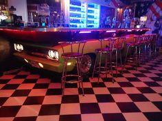 Mopar bar Man Cave Furniture, Car Part Furniture, Automotive Furniture, Custom Furniture, Car Man Cave, Man Cave Diy, Man Cave Garage, Garage Bar, Garage Shop