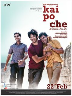 From the makers of Rang de Basanti and the writer-director of Rock On comes one of the greatest stories of friendship that will ever be told. Kai Po Che.     Here's the first poster. Tell us what you think?