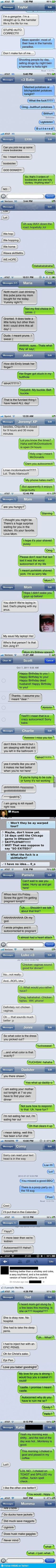 Best autocorrects of 2012 ~ SO FUNNY! I cried I was laughing so hard! Totally inappropriate, but too funny! Haha Funny, Funny Texts, Funny Jokes, Funny Fails, Funny Stuff, Humor Texts, Humor Quotes, Funny Things, Funny People