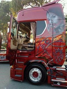 Big Rig Trucks, Cool Trucks, Italy, Genre, Murals, Vehicles, Graphics, Paint, Artwork