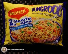 Maggi India's 'Hungrooo' is a extra large pack of noodles! This one is spicy masala flavored. This is The Ramen Rater's 1,543rd instant noodle review.