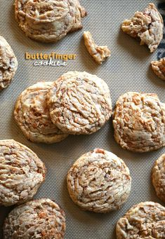 Butterfinger Cookies from Cookies & Cups
