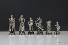 Medieval Chess Pieces 33X33 / Board not included от CraftsAndMetal