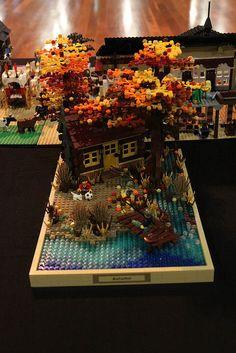 ~ Lego MOCs Fantasy ~ Brickvention 2014: Summer Autumn Winter Spring by narrow_gauge