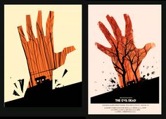 Olly Moss process from Sketch to final iteration. The Evil Dead poster //