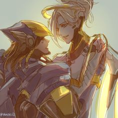 """thececilz: """"Am in overwatch hell rn and then a friend really wanted me to draw pharmercy. How can I not (TBH haven't even drawn my own OTP yet sobs) """""""