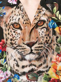 Dolce & Gabbana leopard and floral print shirt
