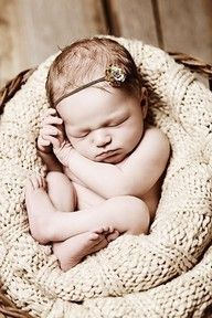 First baby pic- love the tiny little headbands