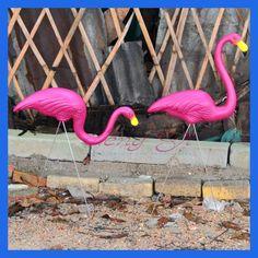 1 Pair pink plastic flamingos garden courtyard lawn decoration Wedding Party jardin landscape dressing decorated ornaments