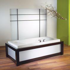 Alcove Primula 4072 AA Customizable Drop-In Rectangular Bathtub Contemporary Bathtubs, Drop In Bathtub, Green Initiatives, Organic Lines, Soaking Bathtubs, Foot Massage, Heating Element, Water Flow, Corner Bathtub