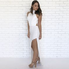 efed67877db Purity White Backless Maxi Dress - Dainty Hooligan Boutique Backless Maxi  Dresses