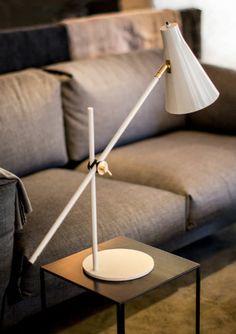 Contemporary metal floor lamp (tripod) - HUNTER by Niclas Hoflin - Ruben Lighting