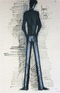 Homme de dos by Bernard Buffet