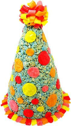 Hungry Happenings: Celebrate a special birthday with this Rice Krispies Treat Party Hat