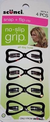 NEW Scunci Snap + Flip clip no slip grip 4pcs