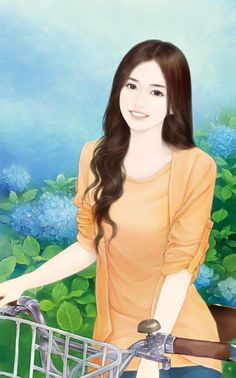 chinese girl y Beautiful Chinese Girl, Beautiful Fantasy Art, Beautiful Anime Girl, Cartoon Girl Images, Cute Cartoon Girl, Lovely Girl Image, Cute Girl Wallpaper, Painting Of Girl, China Girl