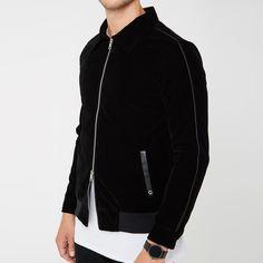 Velvet Harrington Jacket - Black