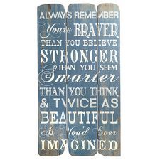 Always Remember Wall Decor - Blue