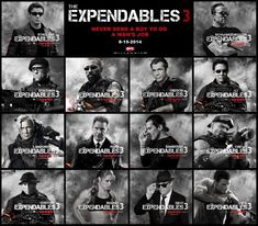 "The Expendables 3 - Movie with toughest crew of the century. The Expendables 3 Movie - Sylvester Stallone brought some fancy names . Then again, the ""aging action star"" is the whole hook of The Expendables, Movies 2014, New Movies, Movies To Watch, Movies Online, Harrison Ford, Mel Gibson, Sylvester Stallone, Ronda Rousey, Action Film"