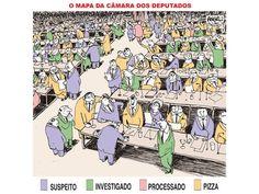 Brasil-Congresso Nacional-2007-Charge-O mapa da Câmara dos Deputados