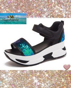 8b66a6069cca28 Glitter Platform Walking Sandals ~ Save 60% + Free Shipping Beach Sandals