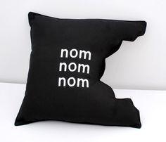 DIY Humorous Nom Nom Nom Pillow