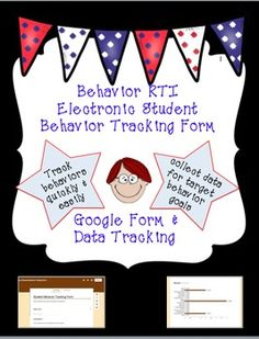 Use this form to track student behaviors quickly and easily. Teachers will like using this form because it takes less than one minute of their busy day to check off the appropriate boxes. Not only will you be able to receive a copy of the documented student behaviors electronically, but also collecting data for student target behavior goals will be made easy!   Benefits: - Editable  - Quick & easy to use - Use data charts to target goals for unwanted behaviors