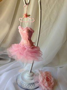 Paper Mache Doll Art Dress pink chiffon by IsabellaRoseDream