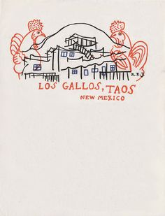 Letter from Georgia O'Keeffe to Alfred Stieglitz on letterhead 'Los Gallos, Taos New Mexico,' May 1929 Letters Of Note, Love Letters, Georgia O'keeffe, Taos New Mexico, Terry Gilliam, Letterhead Design, Letterhead Paper, O Keeffe, Alfred Stieglitz