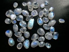 free size 50 carat Natural genuine RAINBOW moonstone rose cut flat gemstone.... free size approx..(8x10 TO 12x16 mm) lot