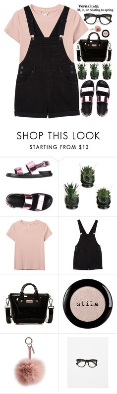 """vernal"" by evangeline-lily ❤ liked on Polyvore featuring Marni, Monki, Hunter, Stila, Fendi, Zara, zara, marni and spring2016"