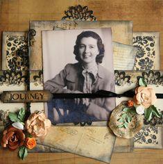 vintage photo layout - grandmommies