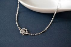Sterling Filigree Choker Sterling Silver Necklace by LayeredLong