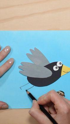 "Loes Riphagen on Instagram: ""Lieve meisjes en jongens! KNUTSELTIJD! Doen jullie mee?? En laat je me zien hoe mooi jou vogel geworden is? ——————————————- Film @keesfilm…"" Birthday Display, Bird Crafts, Art For Kids, Winter Time, Florence, Crafting, Art For Toddlers, Art Kids"