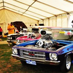 Fords & Holden's sitting side by side because they're all #streetmachines #summernats #summernatscarfestival