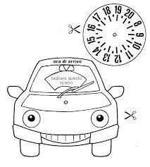 Risultati immagini per sagome da ritagliare disco orario