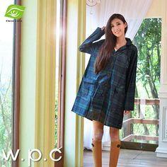 Luxury Preppy Style Hooded Poncho Raincoat