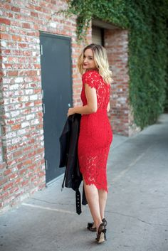 Red Lace dress #holiday