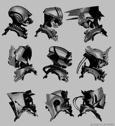 Helmet Design, Grzegorz Przybyś on ArtStation at https://www.artstation.com/artwork/helmet-design-fb4e84f8-73ad-47ae-a7c7-c95b42ff9c75