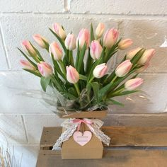 pink tulips in floralbox