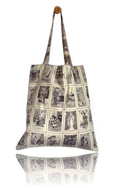 Skulls Cards Lined Tote Bag - Handmade in London via Etsy Tote Bags Handmade, Skulls, London, Fabric, Cards, Etsy, Bags, Tejido, Big Ben London